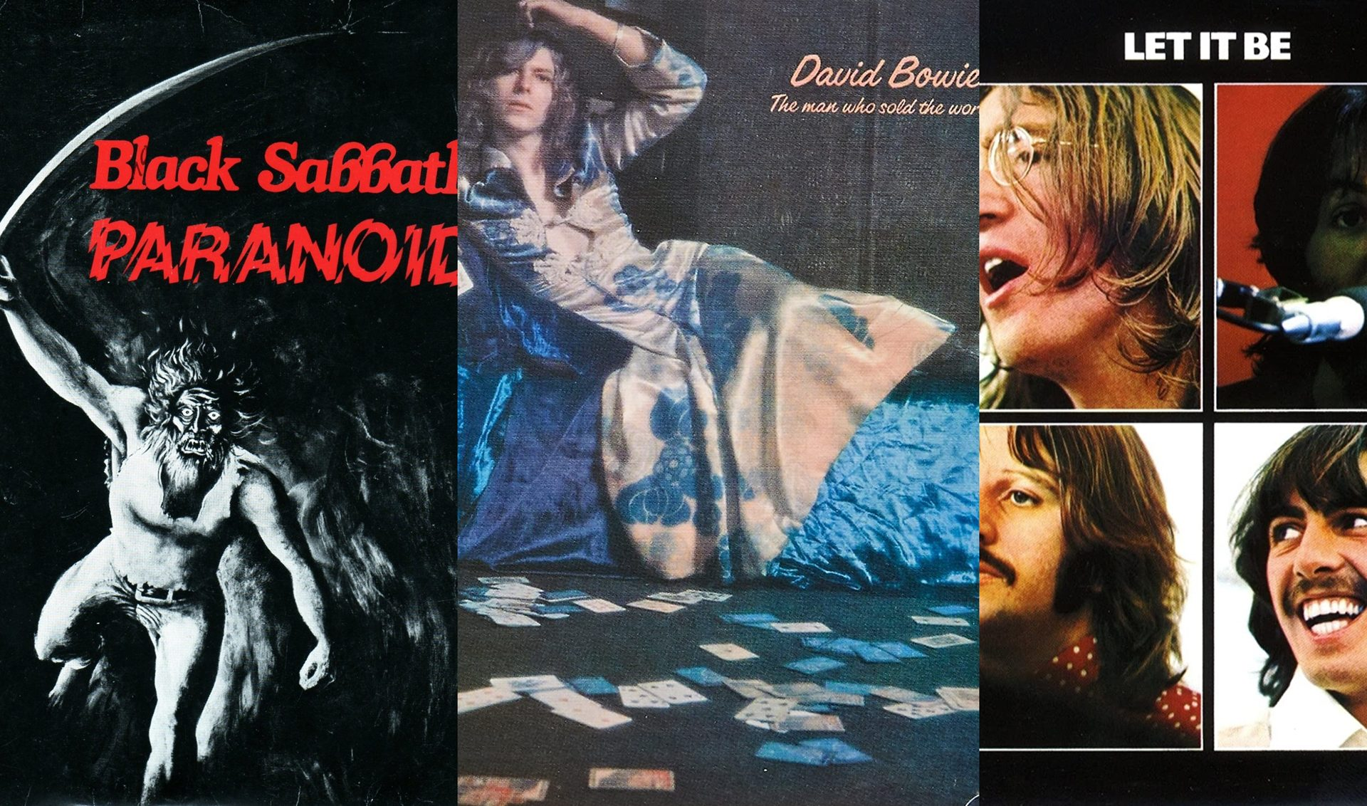 Paranoid, Black Sabtah, David Bowie, The man who sold the world Beatles, Let it be