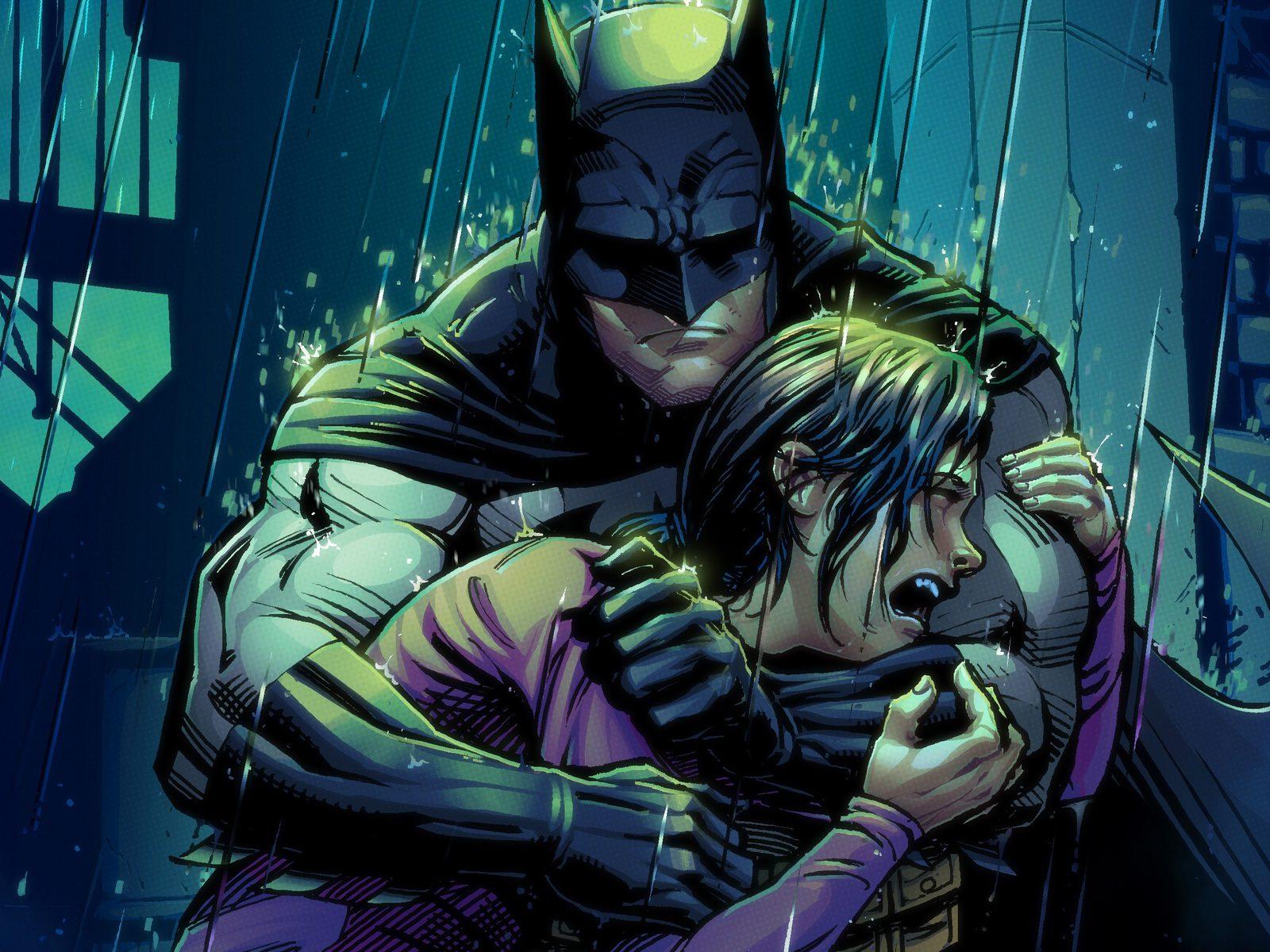 Batman y Robin llorando por los despidos de DC.