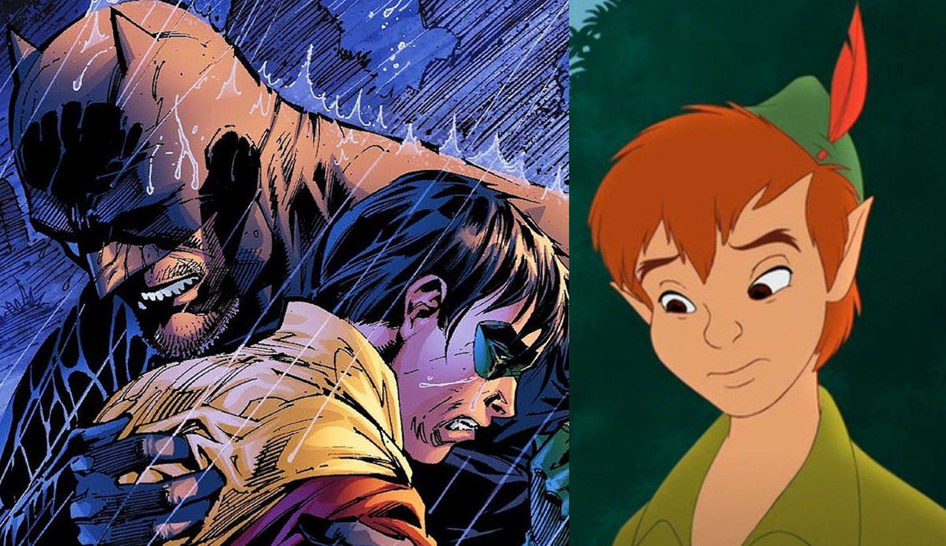 Nos acercamos a Batman y Peter Pan y vemos que son mucho más parecidos de lo que parecen