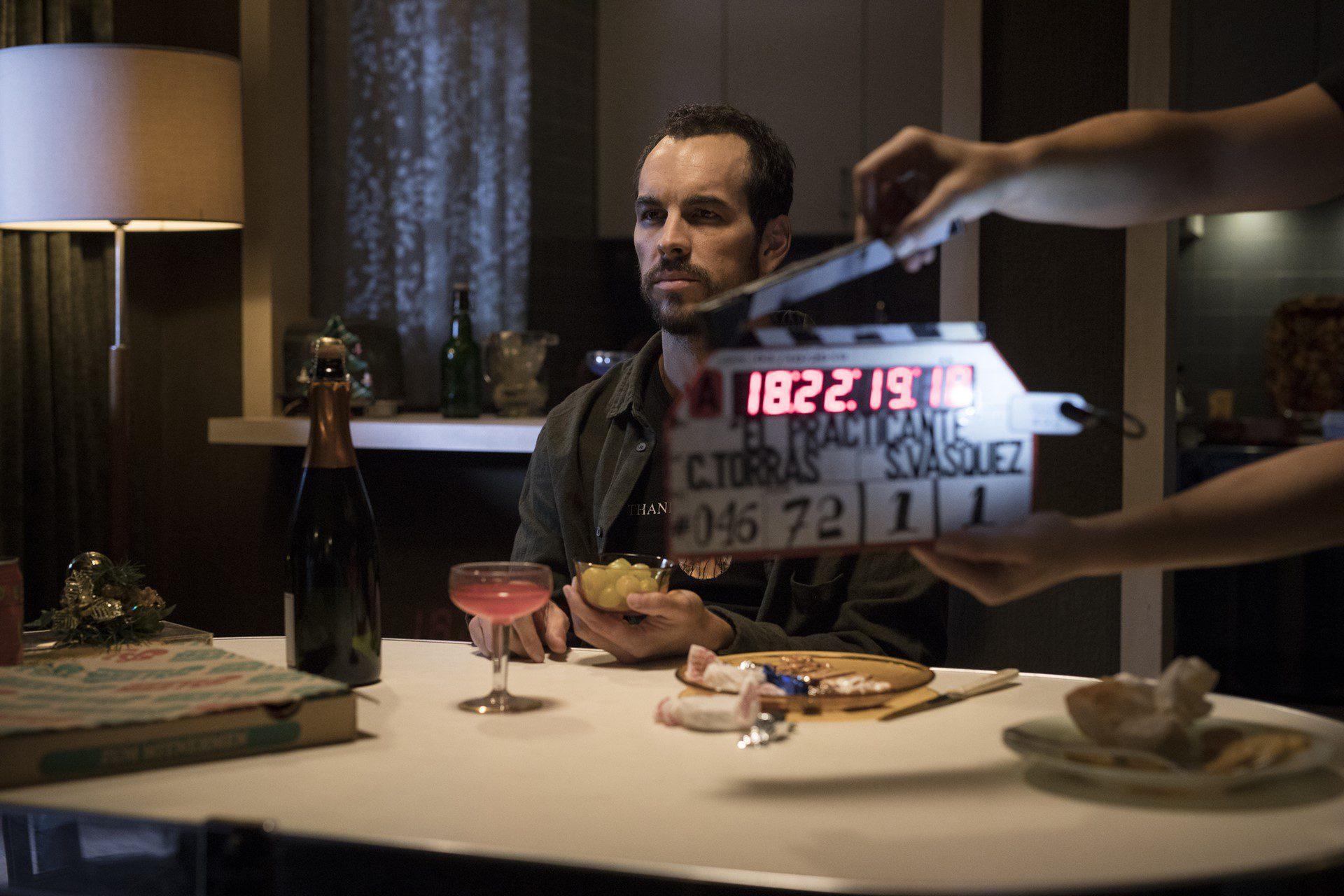 El actor Mario Casas en un momento del rodaje de