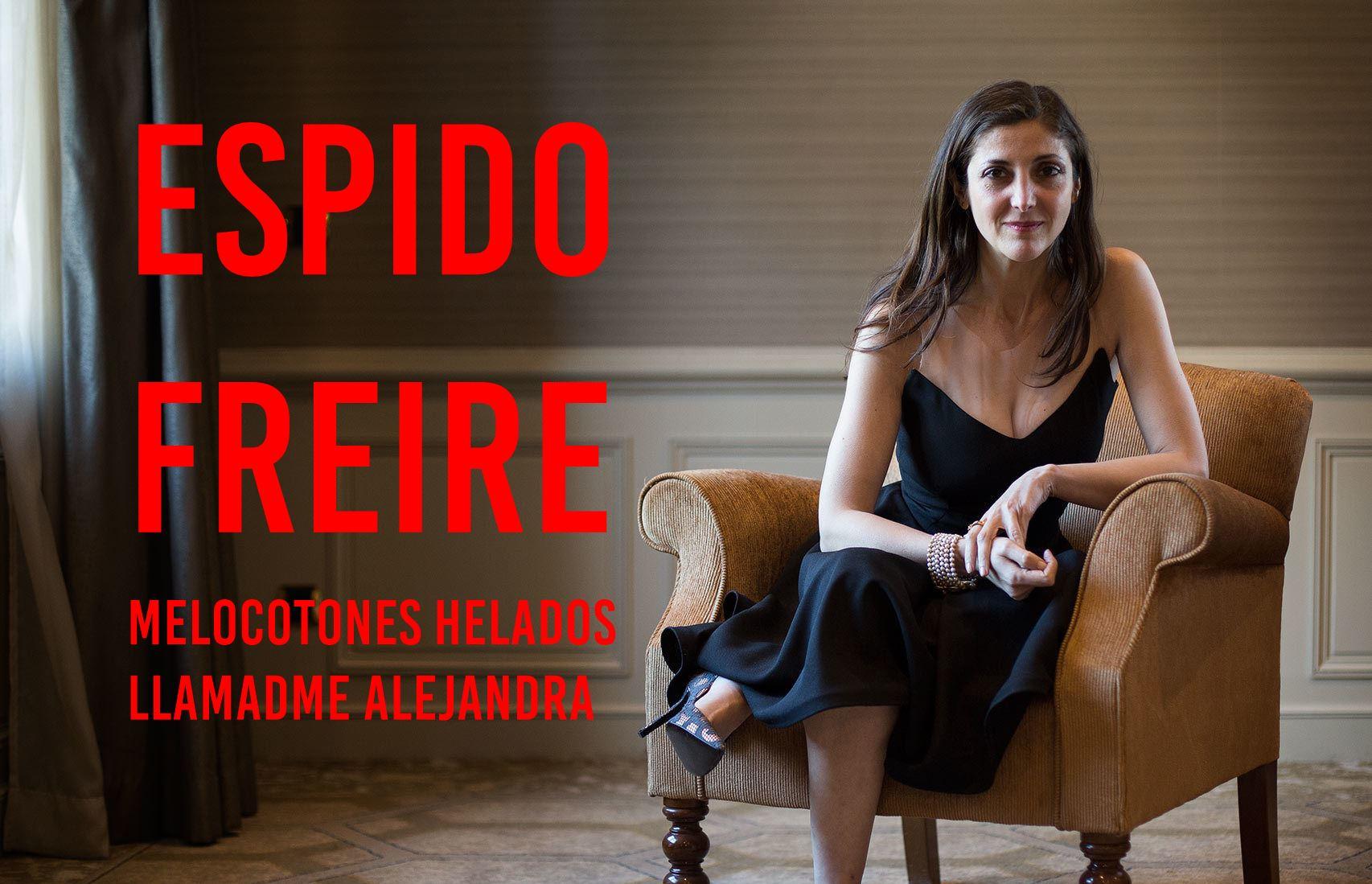 La escritora Espido Freire en la presentación de
