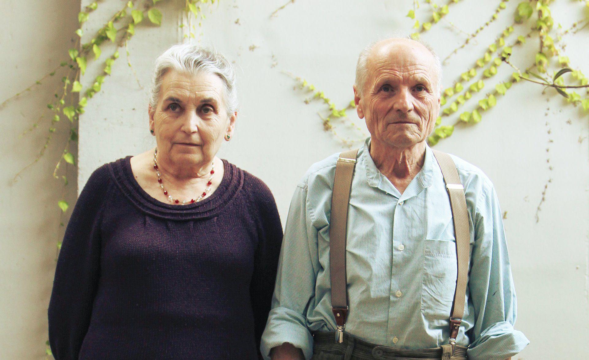 Pintura retrato de los artistas Antonio López y María Moreno.