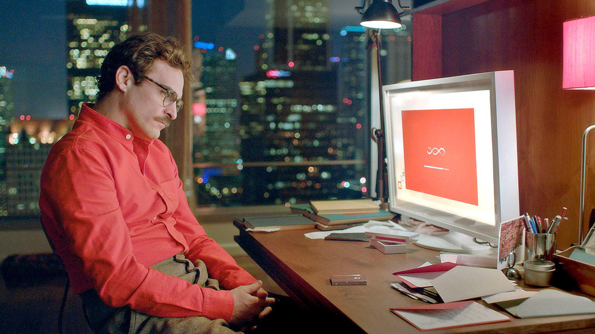 Joaquin Phoenix en la película Her.