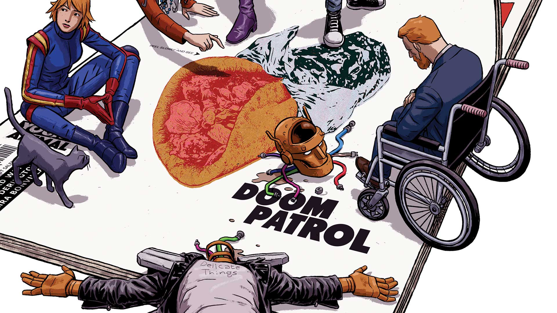 Doom Patrol un cómic lleno de controversia. Gerard Way la sigue manteniendo.