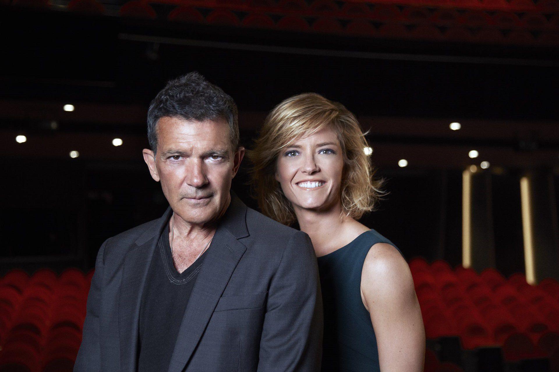 María Casado y Antonio Banderas en el Teatro del Soho en Málaga.