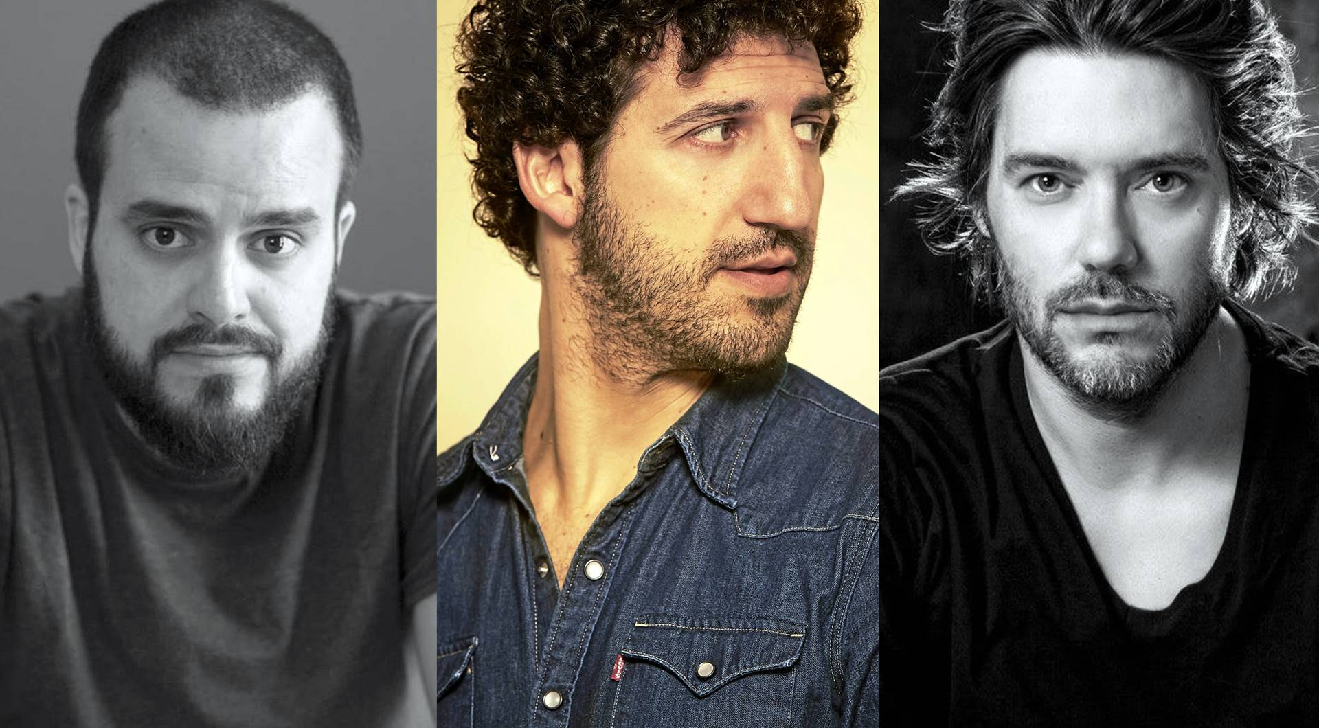 Diego Ojeda, Marwan y Luis Ramiro, poetas y cantautores