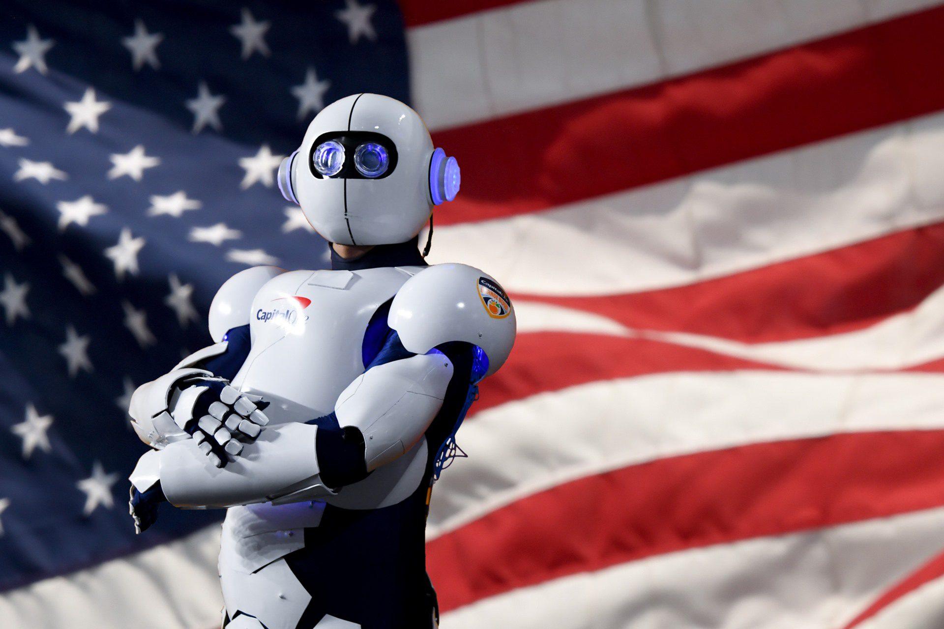 Imagen de un robot presidente