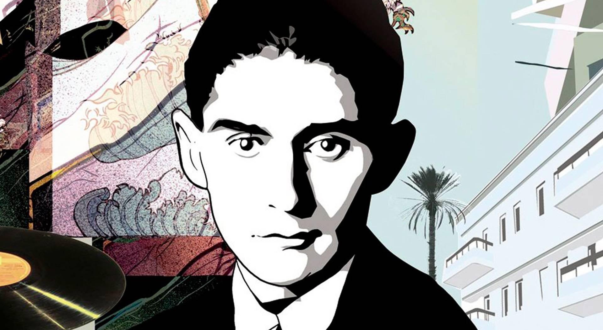 Franz Kafka. Ilustración de Ayala Tal