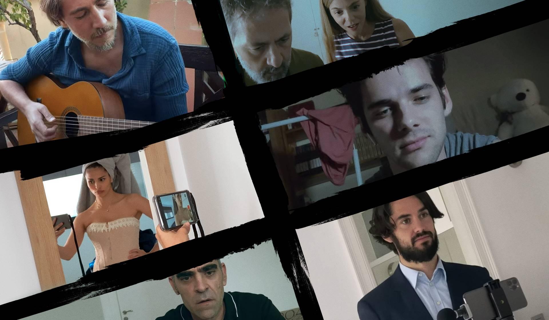 Los actores Luis Tosar, Sara Salamo y Álvaro Rico.