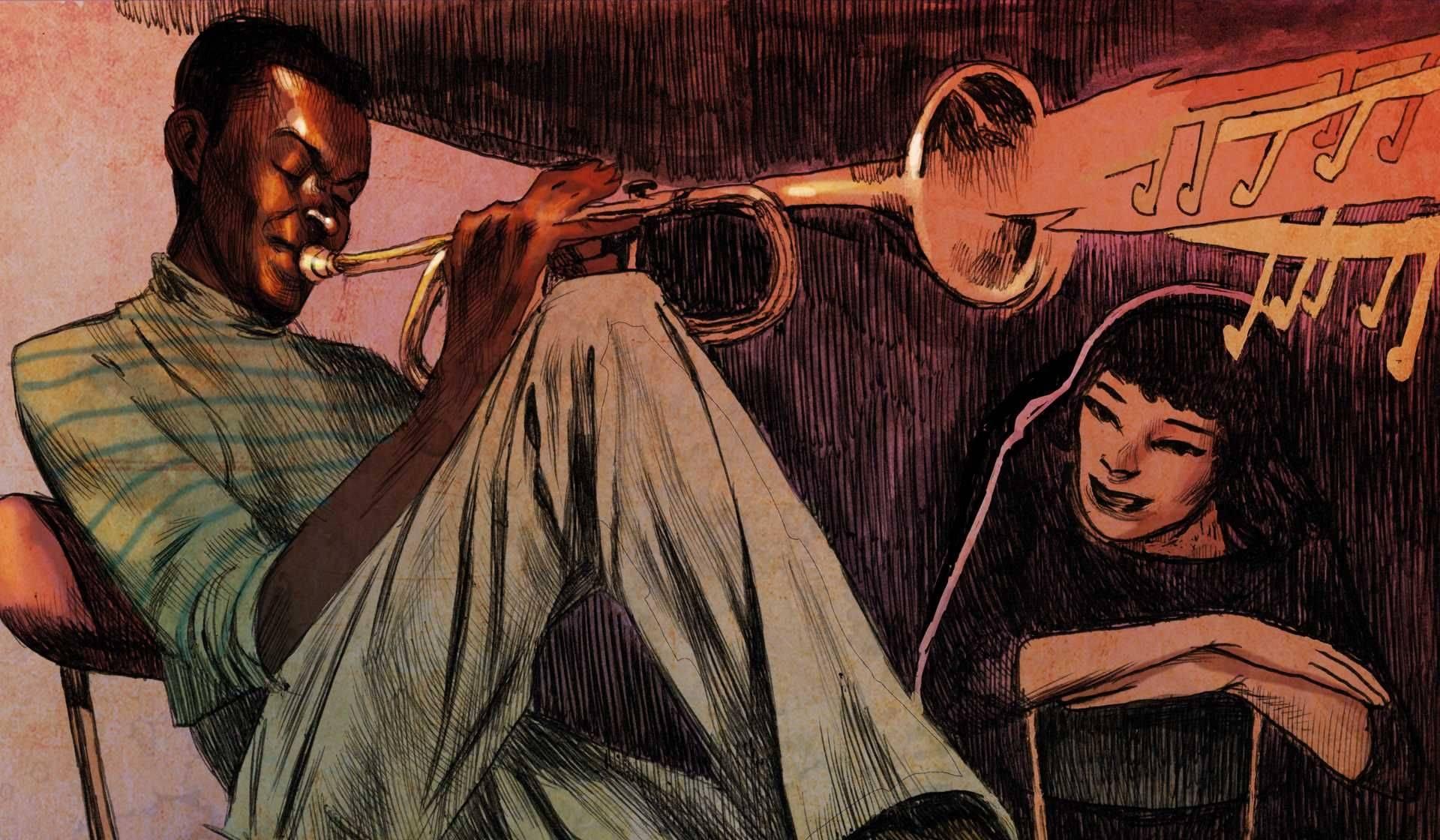 Miles en París un cómic sobre el encuentro de Miles Davis y Juliette Gréco en París de Salva Rubio y Sagar Forniés