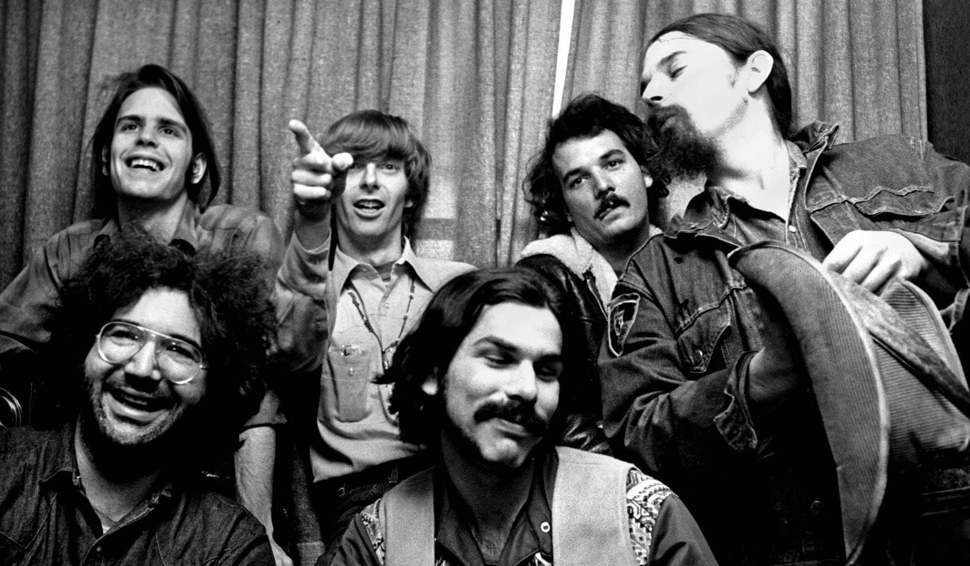 Miembros de la banda Grateful dead en los años 70.