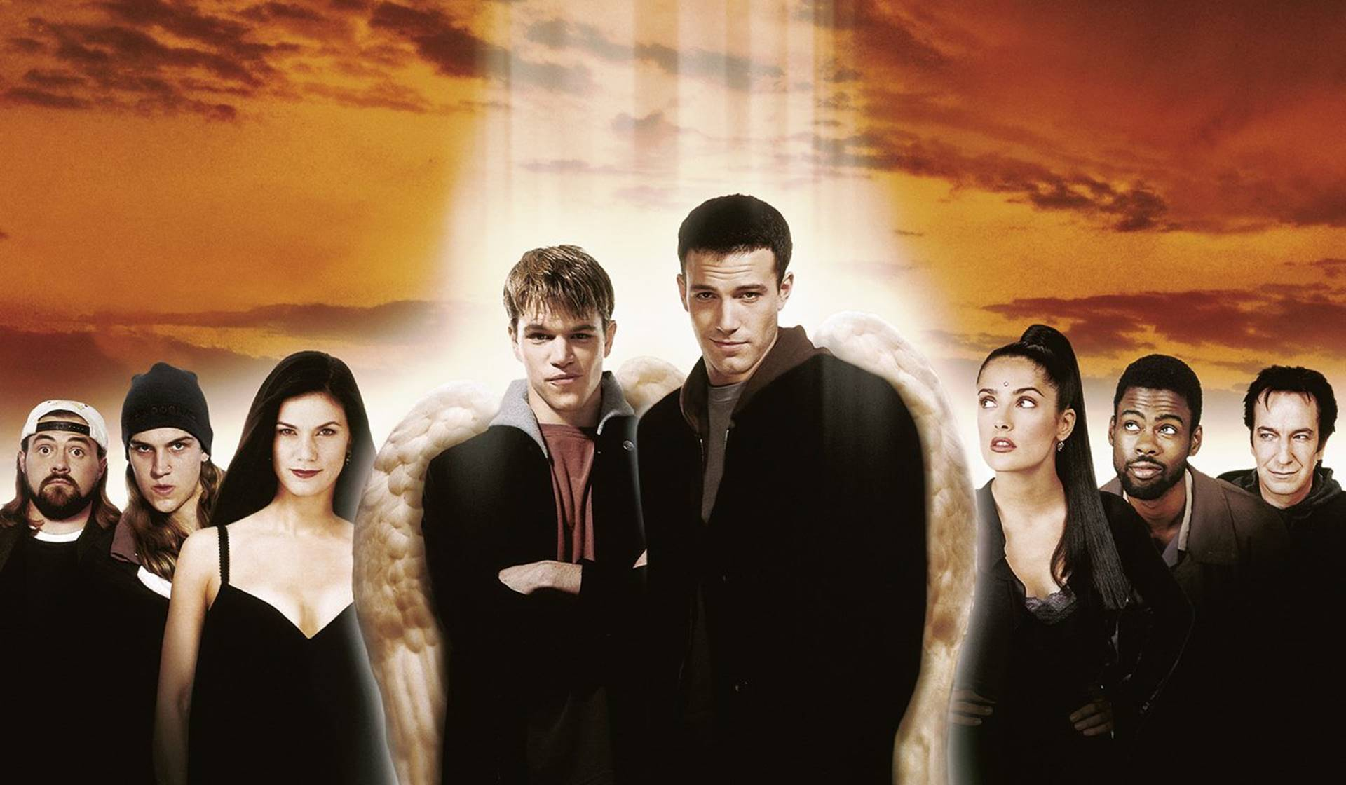 Dogma (1999) con Ben Affleck y Matt Damon.