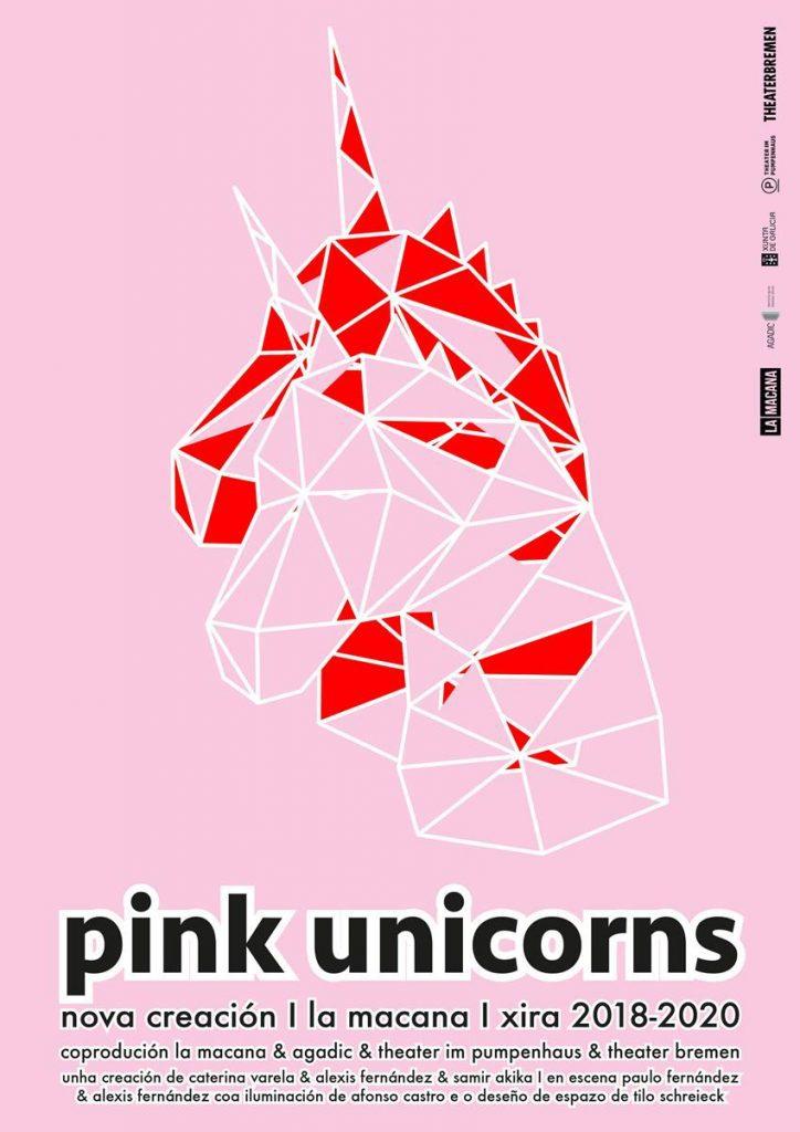 Cartel de Pink unicorns