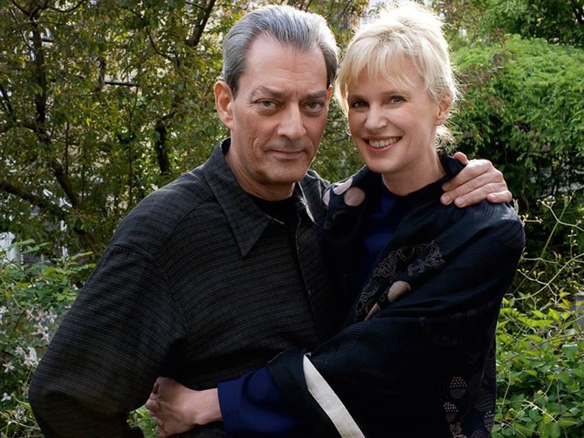 Paul Auster y su mujer, Siri Hustvedt (también excelente escritora y premio príncipe de Asturias).