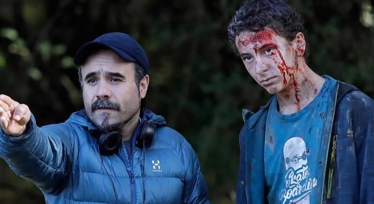 Koldo Serra y Lucas Miramón en Caminantes.
