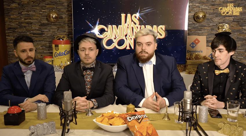 Ibai Llanos en la retransmisión de las Campanadas 2020 en Twitch