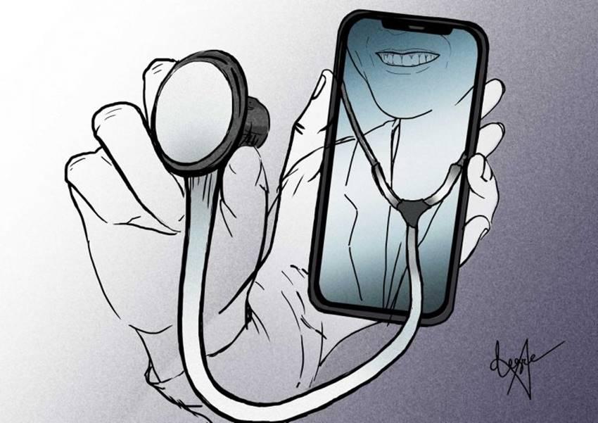 Salud digital. Ilustración: Verónica Montón Alegre.
