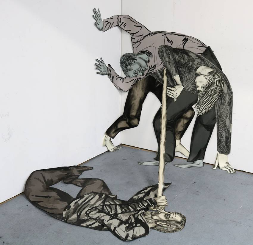 Paper sculpture frontal. Susanna Inglada