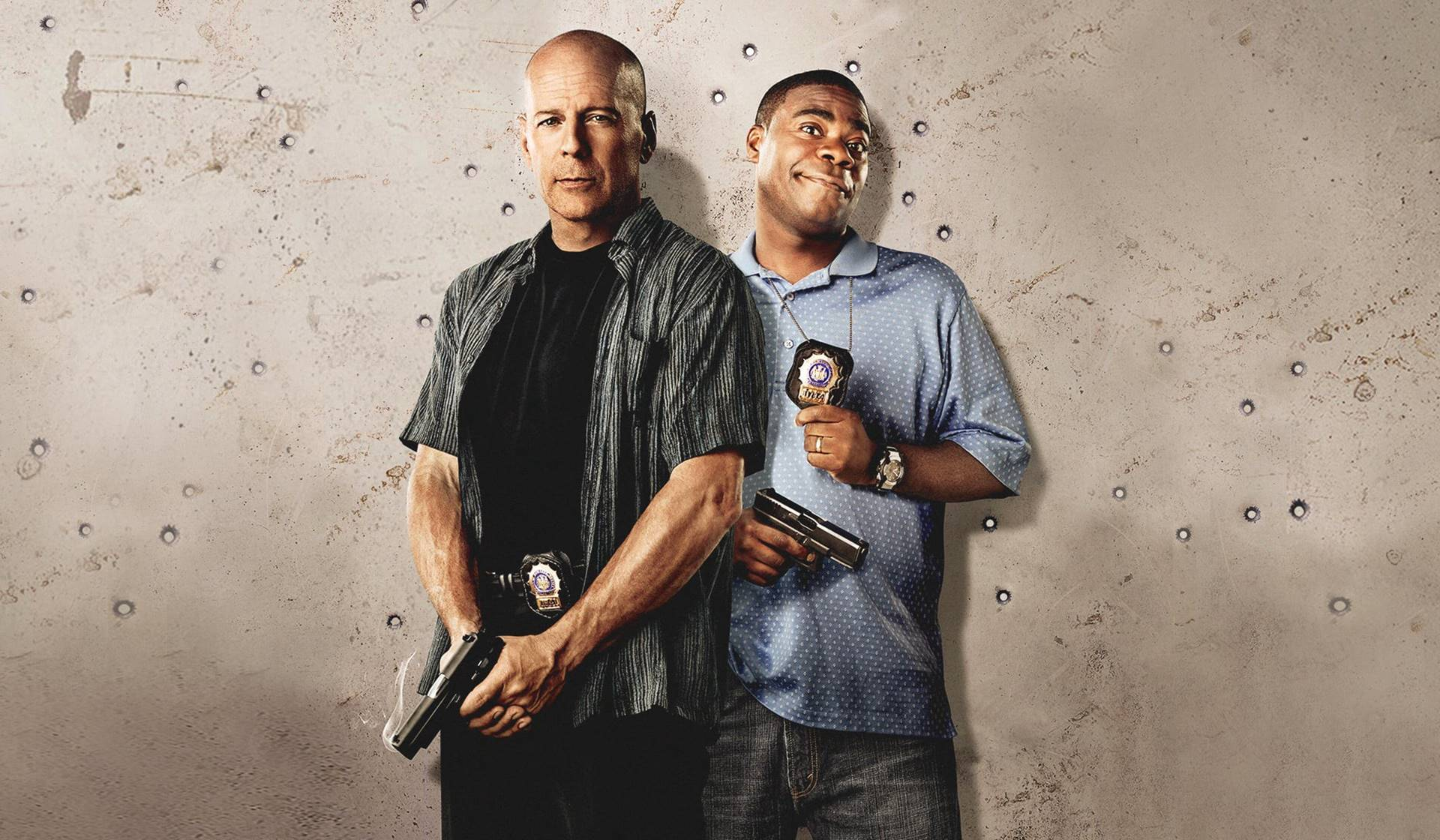 Bruce Willis y Tracy Morgan en Cop Out. Imagen de Medium