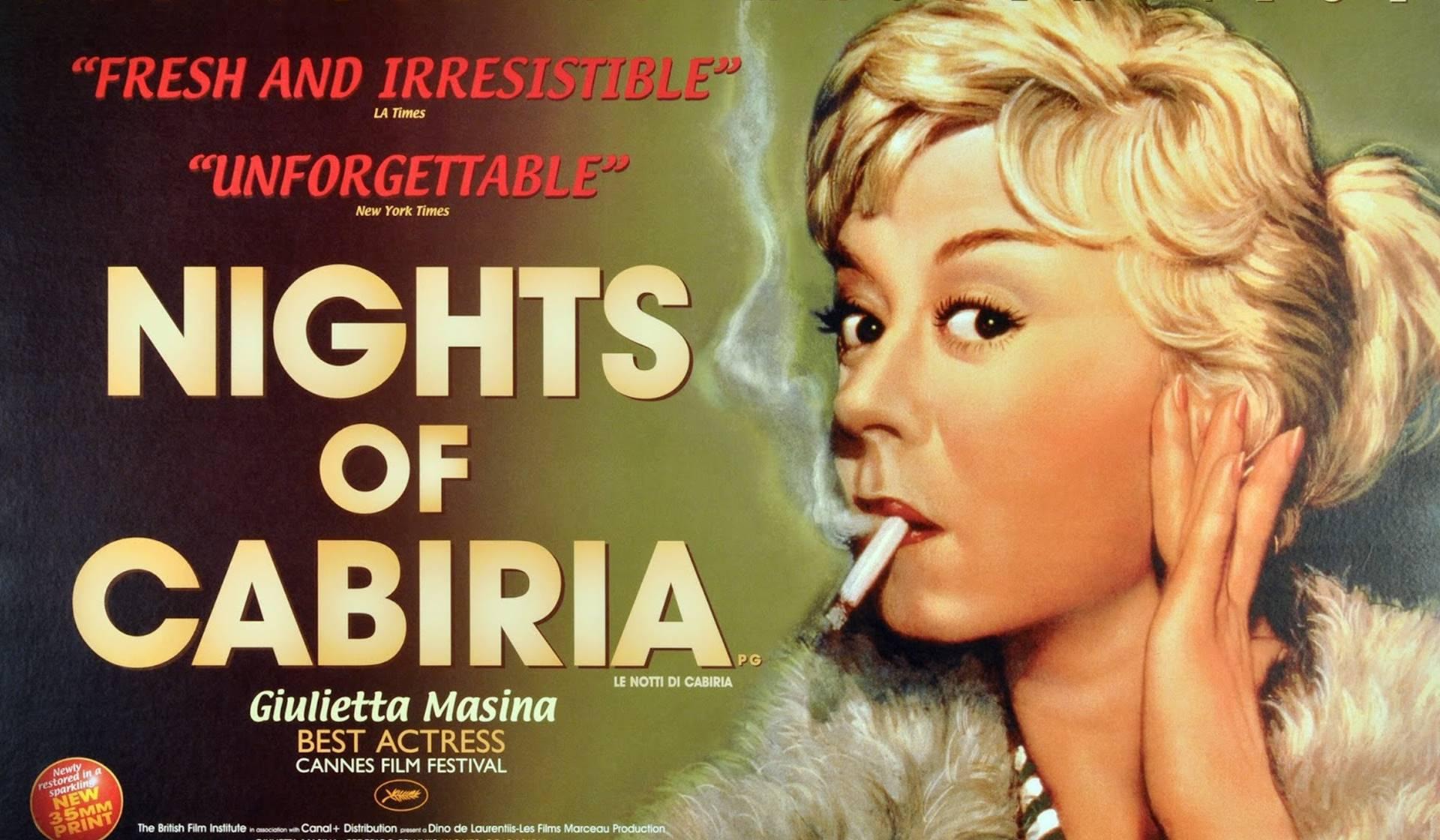 Cartel de la Noche de Cabiria, de Fellini