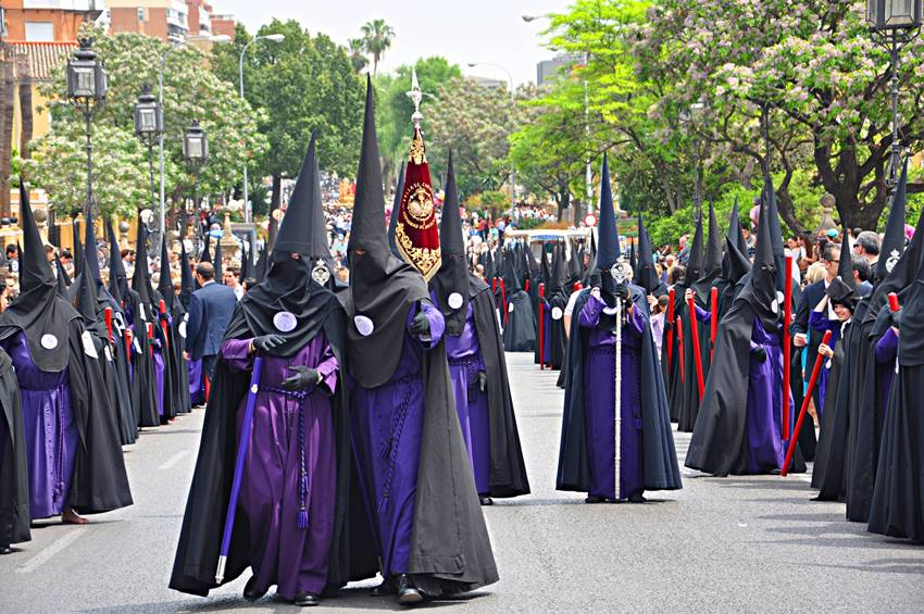 Cofradías Semana Santa en Sevilla.
