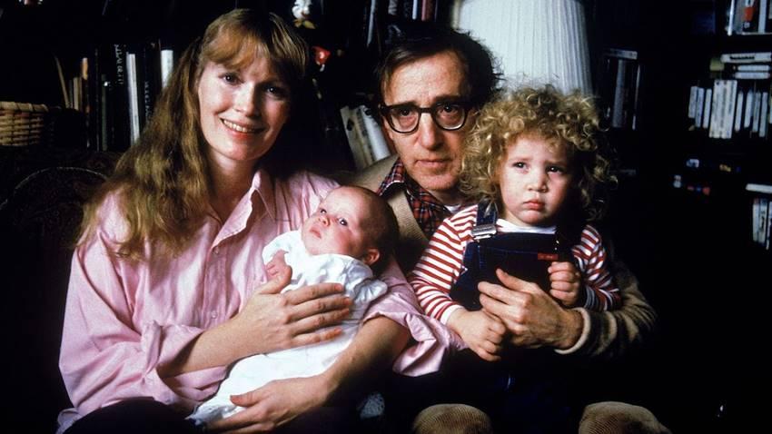 Mia Farrow y Woody Allen en Allen v. Fallow