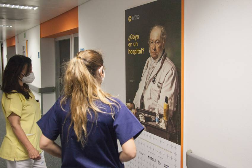 Exposición ¿Goya en un hospital?. Imagen: ©Fundación Cultura en Vena.