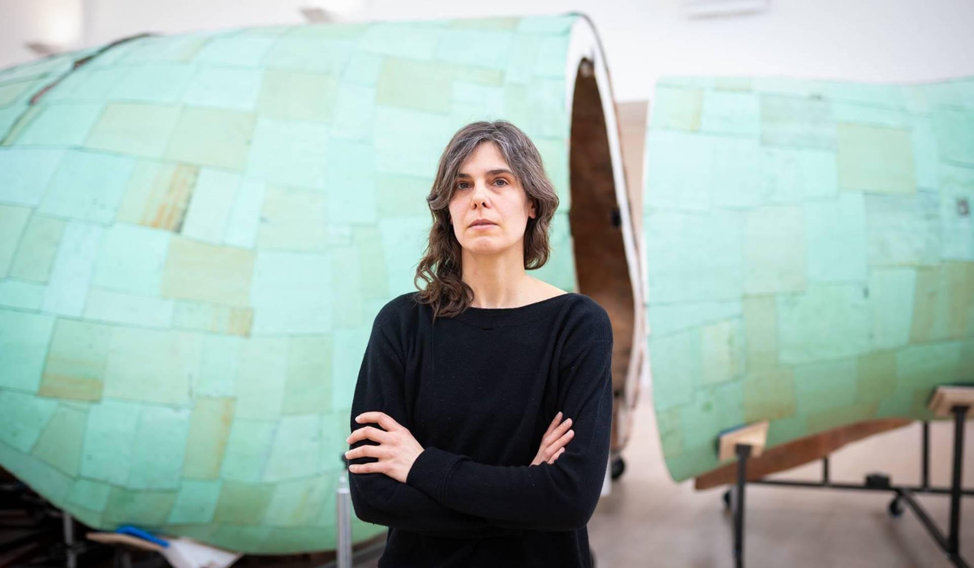 La artista Katinka Bock. Foto: Moritz Frankenberg