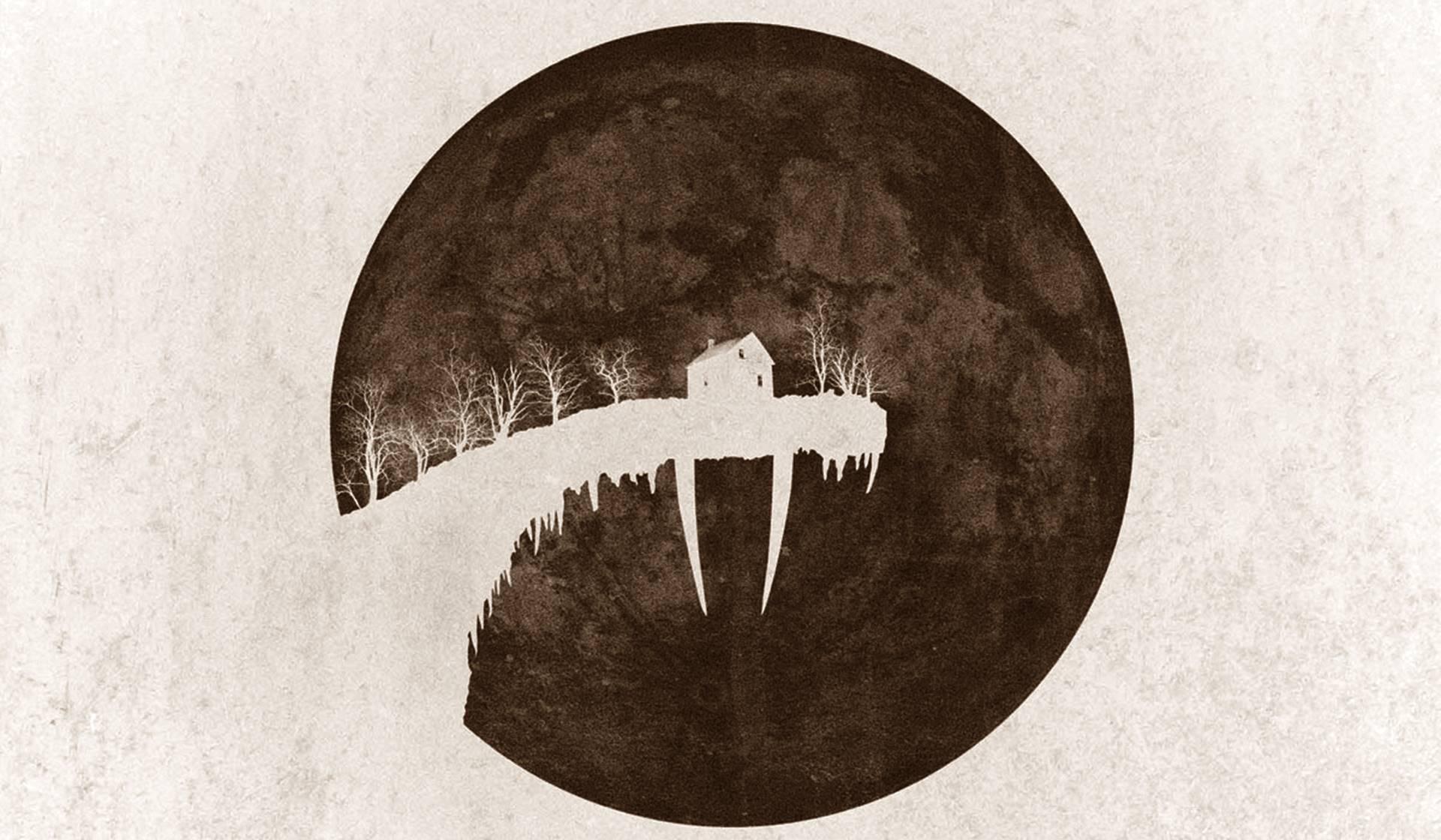 Una casa con colmillos de morsa en el cartel de Tusk de Kevin Smith