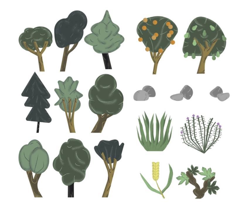 Guideline árboles del Botánico-Jardín Creativo.