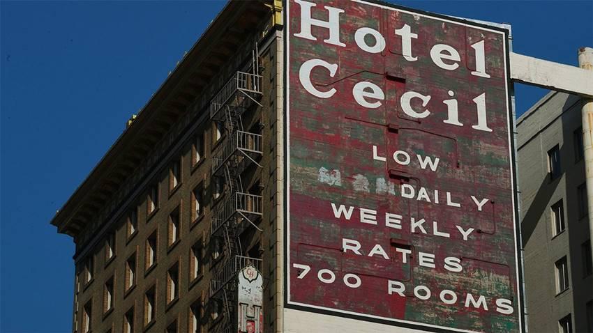 Hotel Cecil, situado en la zona de Skid Row en Los Ángeles.