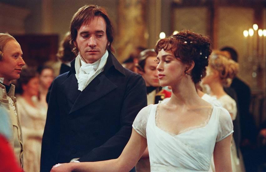 Keira Knightley y Matthew Macfadyen en Orgullo y prejuicio.
