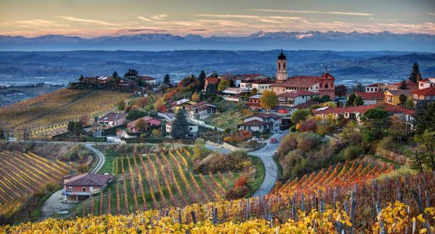 La región de Piamonte en Italia.