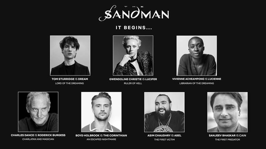 El reparto principal de The Sandman