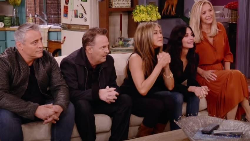 Uno de los momentos de Friends: The Reunion.