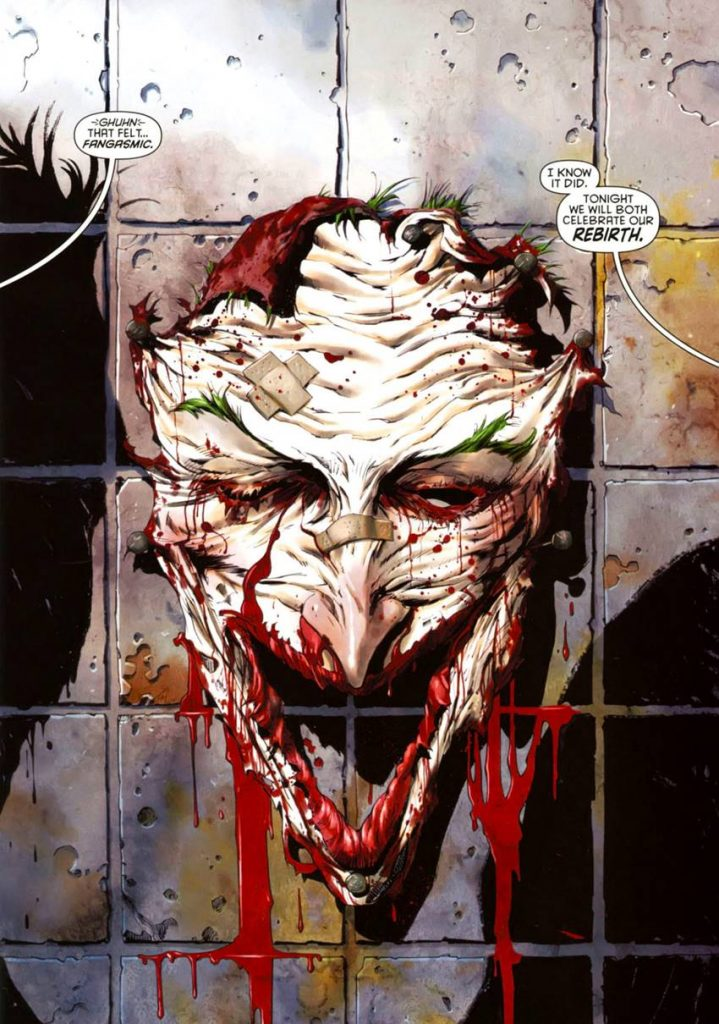 La cara del Joker por Tony Daniel.