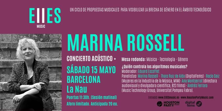Concierto acústico de Marina Rossell en Elles Music y mesa redonda ¿Quién controla los algoritmos musicales?