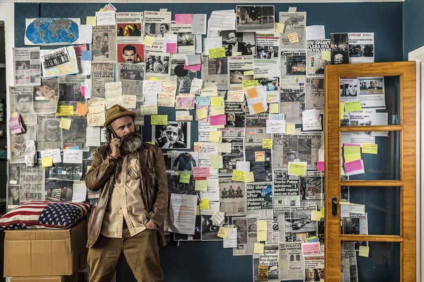 Imagen promocional de la serie Una conspiración sueca protagonizada por Schiaffino Musarra.