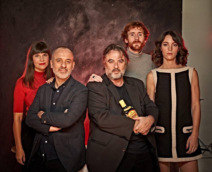 Mónica Regueiro, Javier Gutiérrez, Andrés Lima, Dani Pérez y Vicky Luengo. Foto de Sergio Parra.