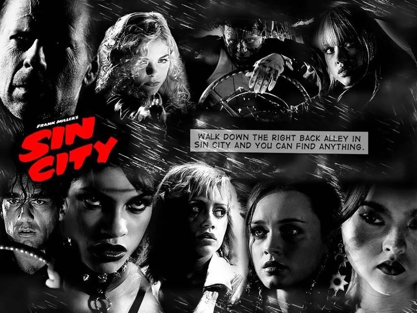 Las chicas de Sin City junto a Hartigan, Dwight y Marv.