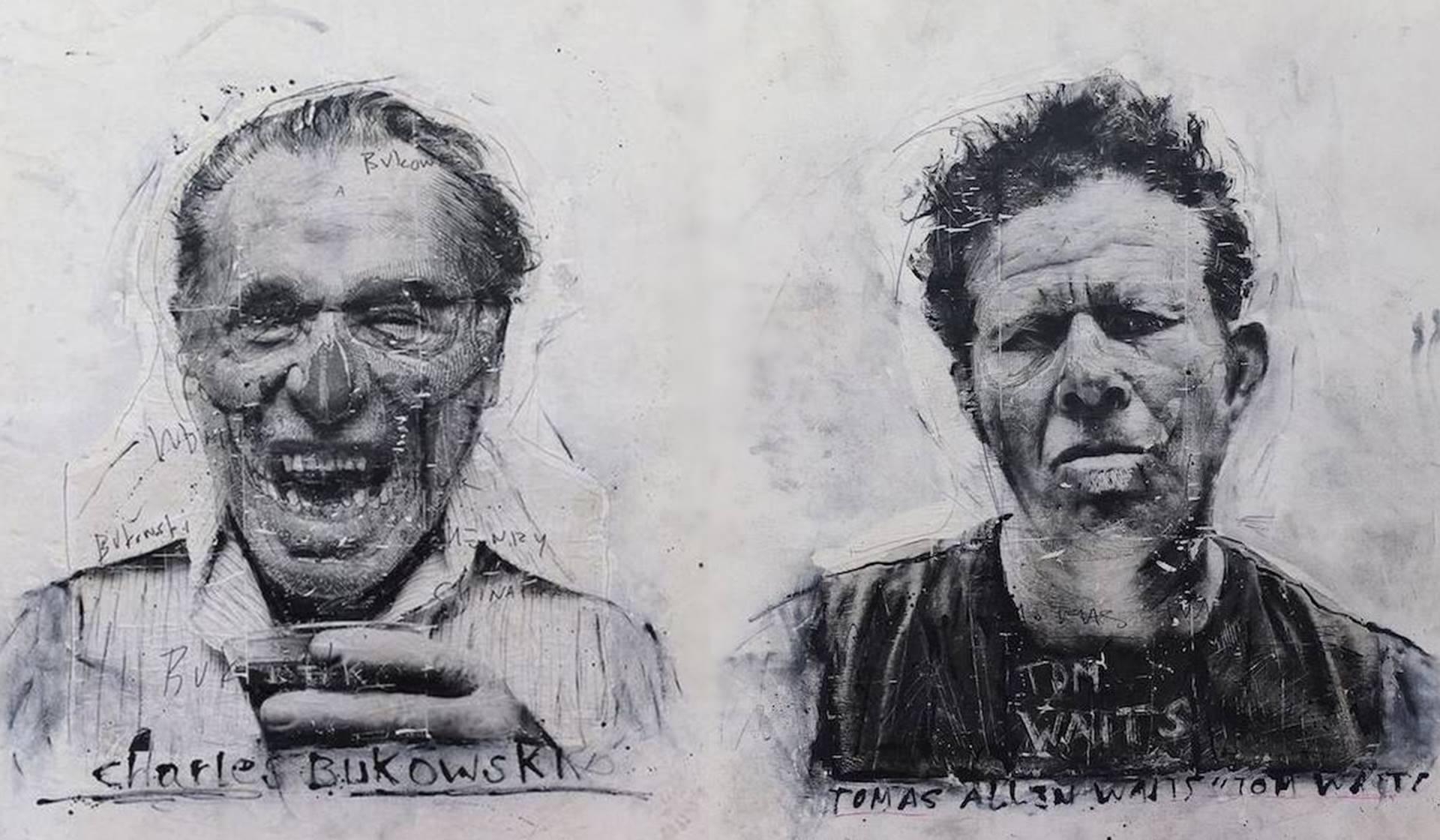 Poemas. Ilustraciones de Charles Bukowski y Tom Waits de Nick Twaalfhoven