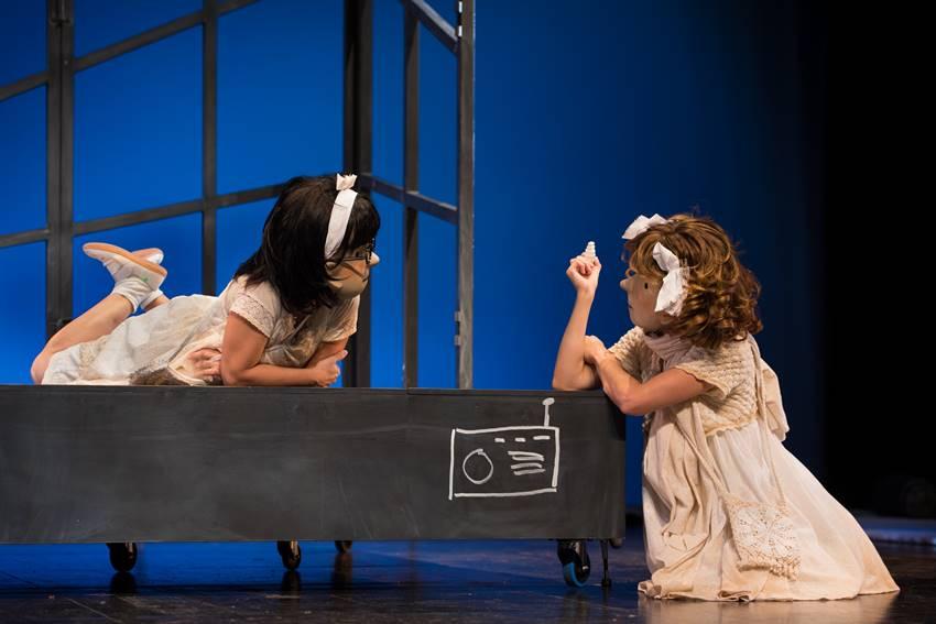 Durante la representación de Amour. Foto: ©Guillermo Casas.