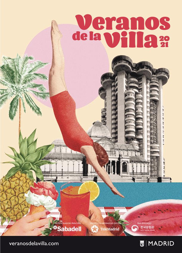 Uno de los carteles creados por la ilustradora Lara Lars para Veranos de la Villa 2021.
