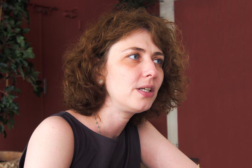 Anna Starobinets esta semana en Madrid.