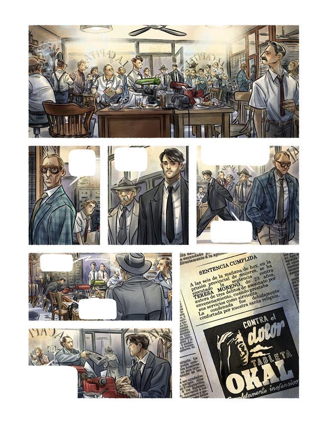 La redacción del periódico en el que trabajan dos de los protagonistas de Contrapaso, El Capital. Teresa Valero.
