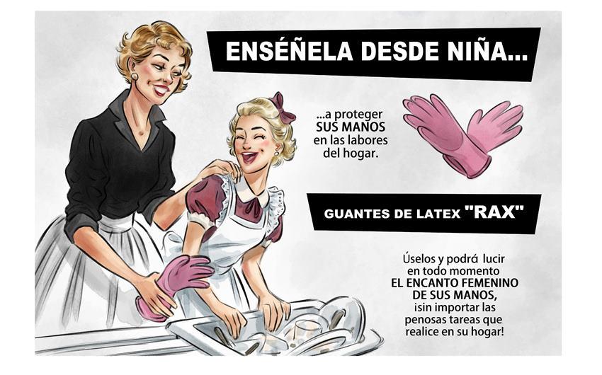 Viñeta de uno de los anuncios de la época en Contrapaso, de Teresa Valero.