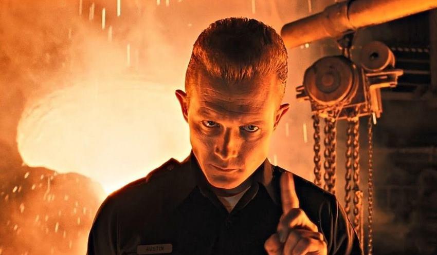 Robert Patrick (T-1000) en Terminator 2.