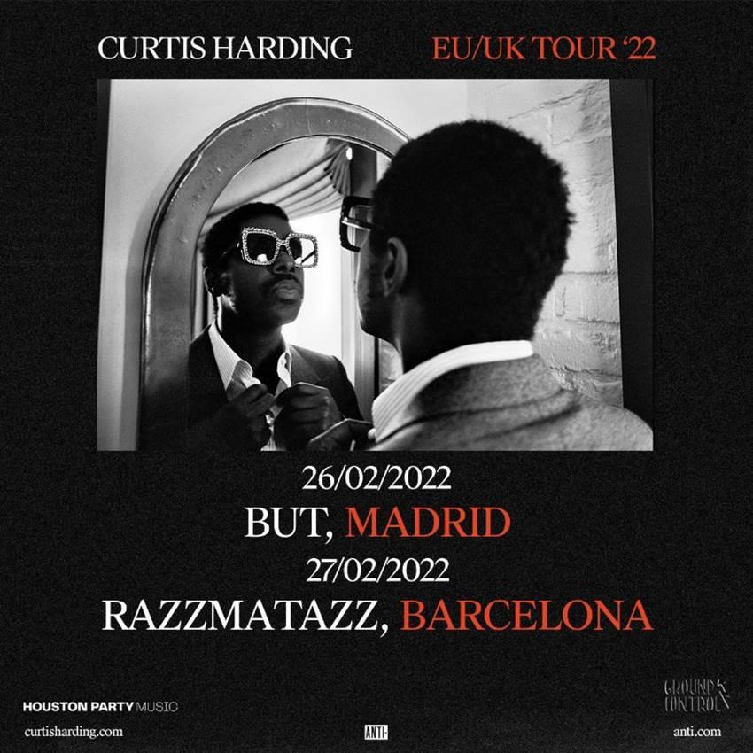 Conciertos de Curtis Harding en Madrid y Barcelona