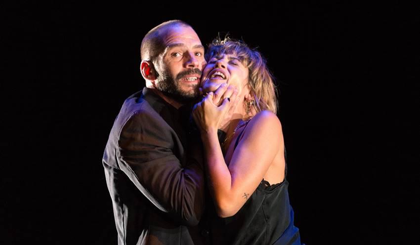 Momento en el escenario de La pasión de Yerma de Lola Blasco.