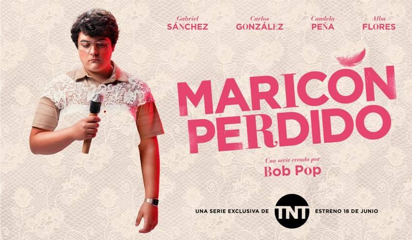 Cartel promocional de la serie Maricón Perdido, creada por Bop Pop.